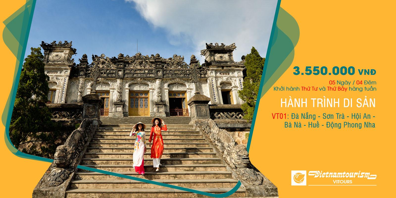 Tour Hành trình Di sản 5N4Đ Đà Nẵng - Sơn Trà - Hội An- Bà Nà- Huế - Động Phong Nha chỉ 3.550.000 vnđ Vitours JSC