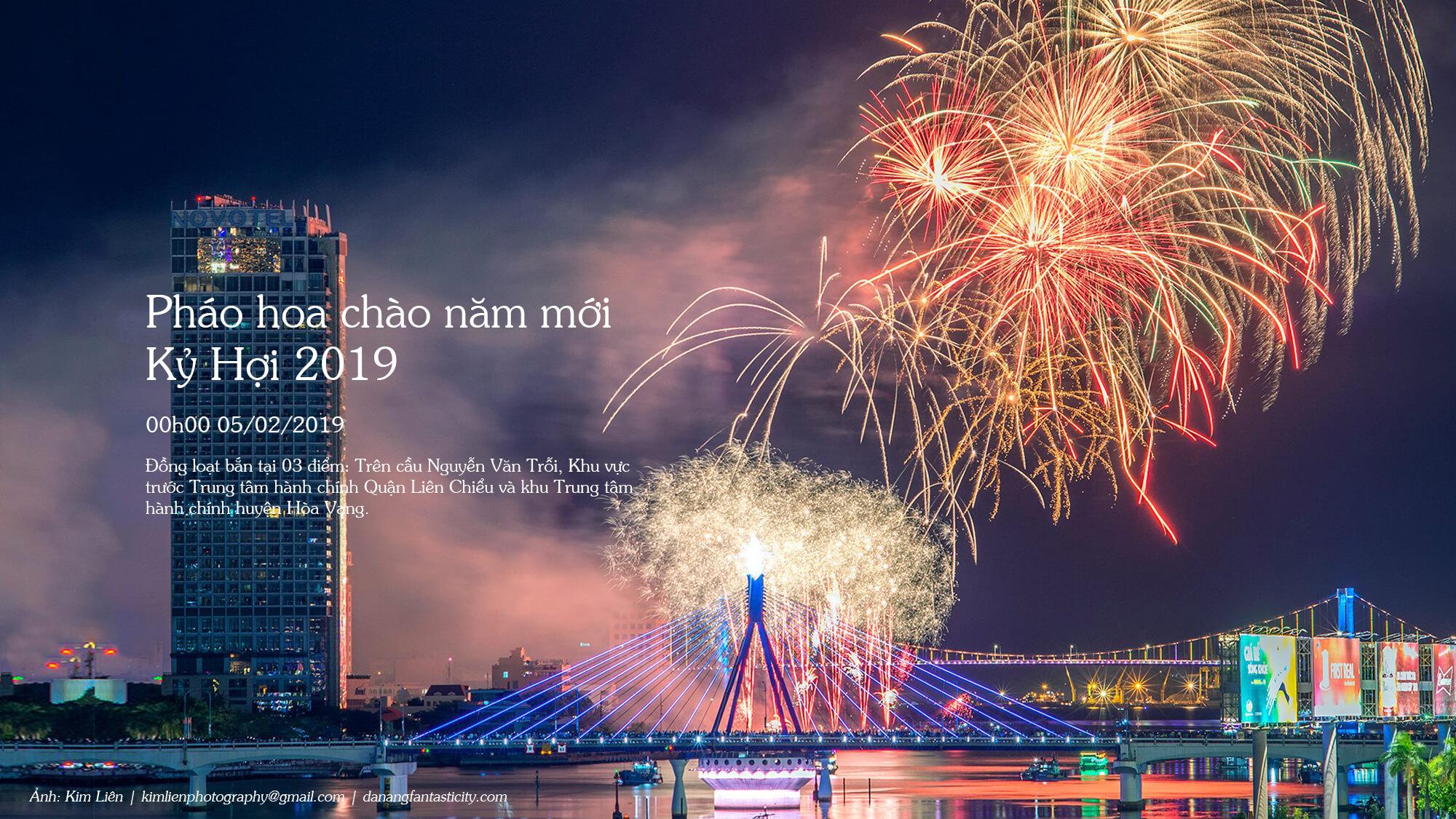 Top sự kiện nổi bật Đà Nẵng 2019 - BẮN PHÁO HOA CHÀO NĂM MỚI KỶ HỢI 2019