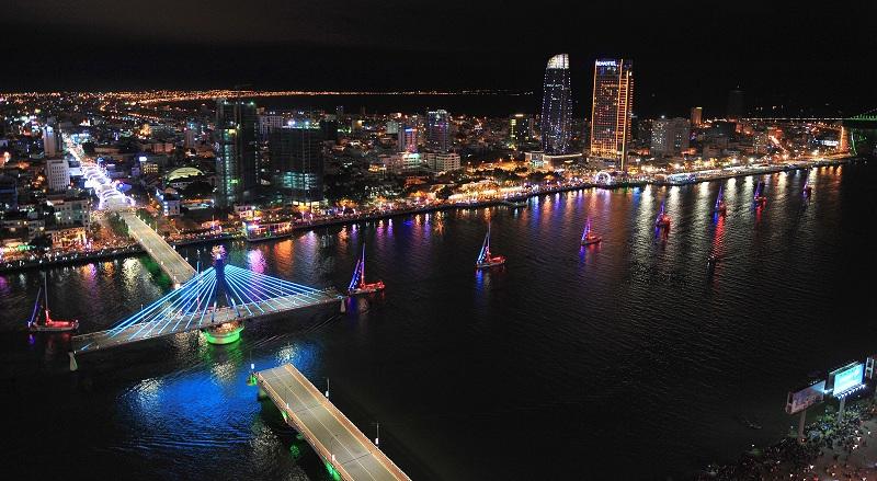 Cầu sông Hàn ngừng quay, cầu Rồng ngừng phun lửa phục vụ Lễ hội pháo hoa Quốc tế Đà Nẵng DIFF 2018 2