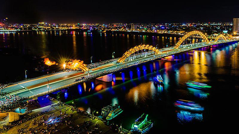 Cầu sông Hàn ngừng quay, cầu Rồng ngừng phun lửa phục vụ Lễ hội pháo hoa Quốc tế Đà Nẵng DIFF 2018