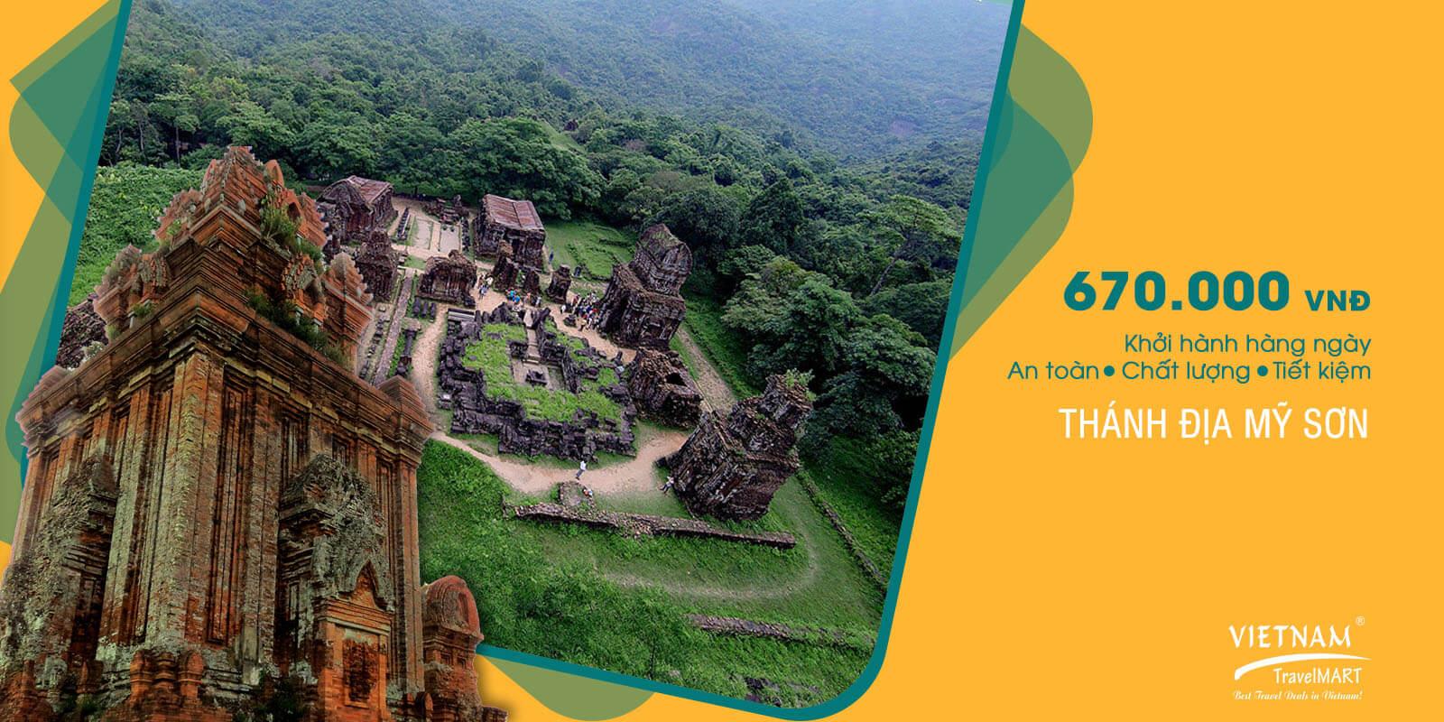 Giảm 5% Tour Thánh địa Mỹ Sơn chỉ 670.000 vnđ Vietnam TravelMART JSC