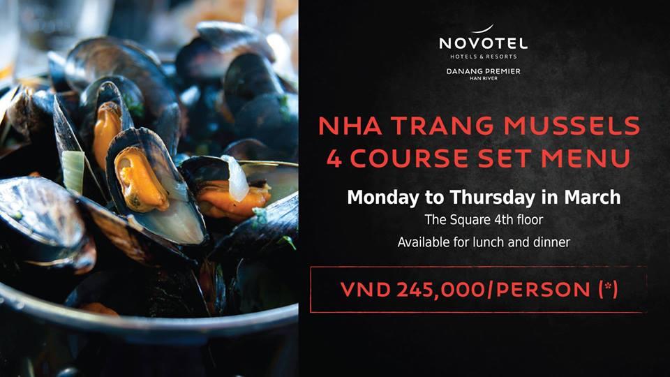 """Novotel Danang Premier Han River – Thực đơn đặc biệt """"Vẹm Nha Trang"""""""