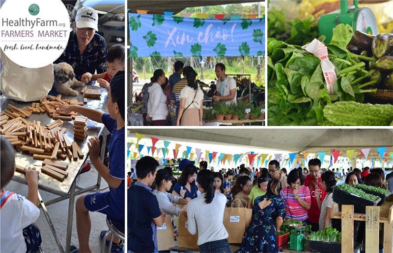 Phiên chợ Nông dân Healthyfarm Tháng 3/2018 1