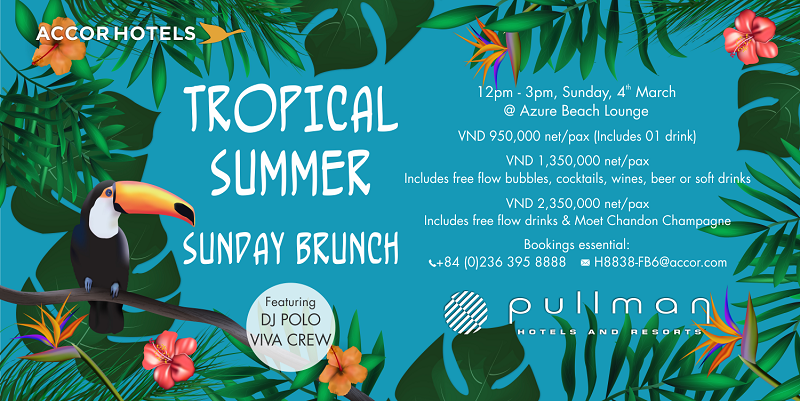 Pullman Danang Beach Resort- BUFFET trưa Chủ Nhật