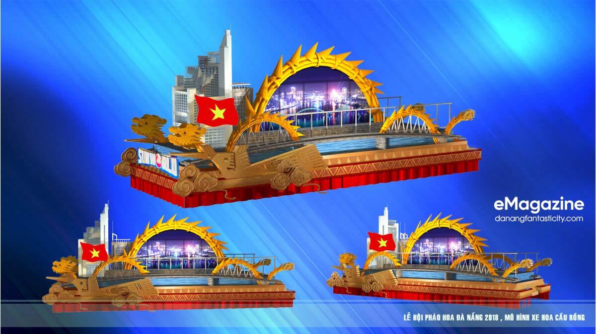 12 cây cầu di động trong Lễ hội pháo hoa Quốc tế Đà Nẵng 2018 2