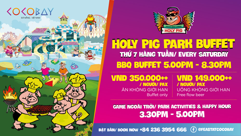 Holy Pig Park Buffet at Cocobay Danang