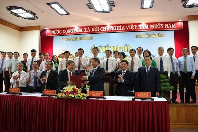 Lễ ký kết hợp tác giữa Tỉnh Thừa Thiên Huế và Thành phố Đà Nẵng 2