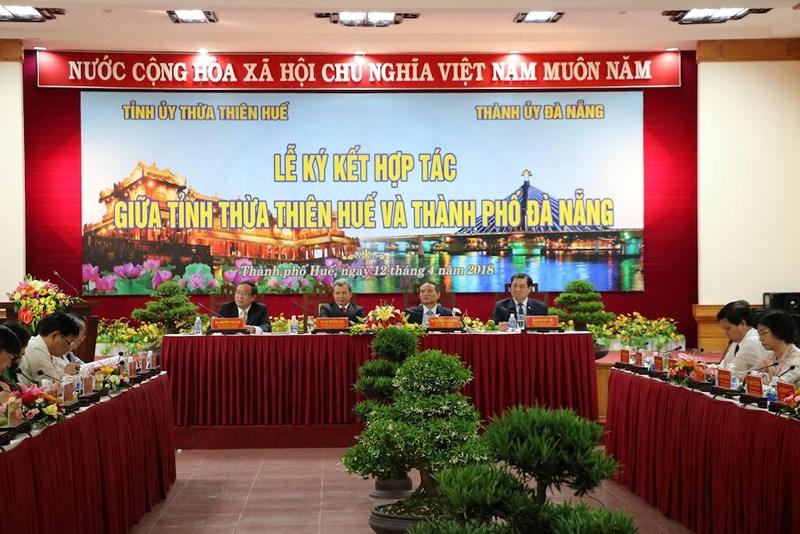 Lễ ký kết hợp tác giữa Tỉnh Thừa Thiên Huế và Thành phố Đà Nẵng