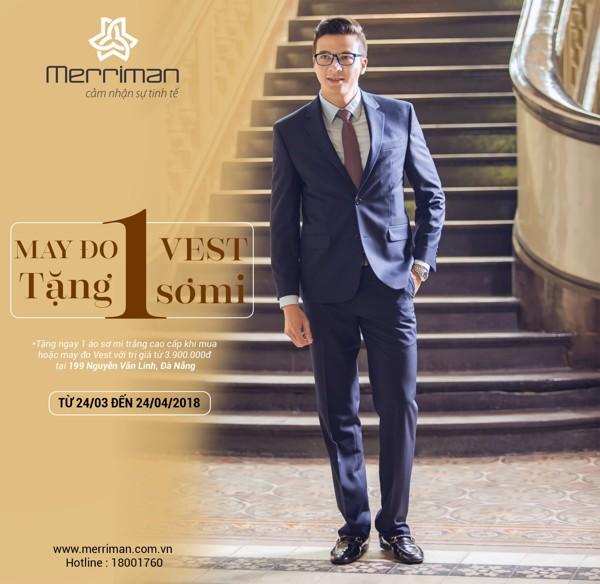 Chương trình ưu đãi may đo veston nam thời trang Merriman