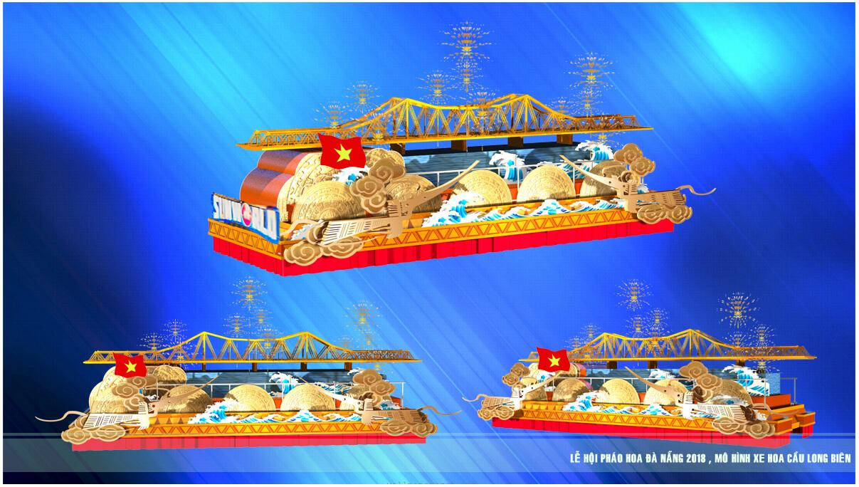 Xem 12 cây cầu nổi tiếng thế giới di động trên đường phố Đà Nẵng – Mô hình xe hoa Lễ hội pháo hoa Quốc tế Đà Nẵng 2
