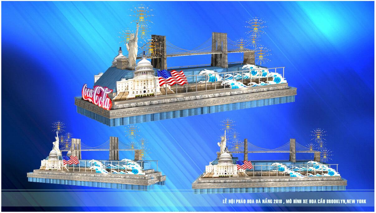 Xem 12 cây cầu nổi tiếng thế giới di động trên đường phố Đà Nẵng – Mô hình xe hoa Lễ hội pháo hoa Quốc tế Đà Nẵng 3