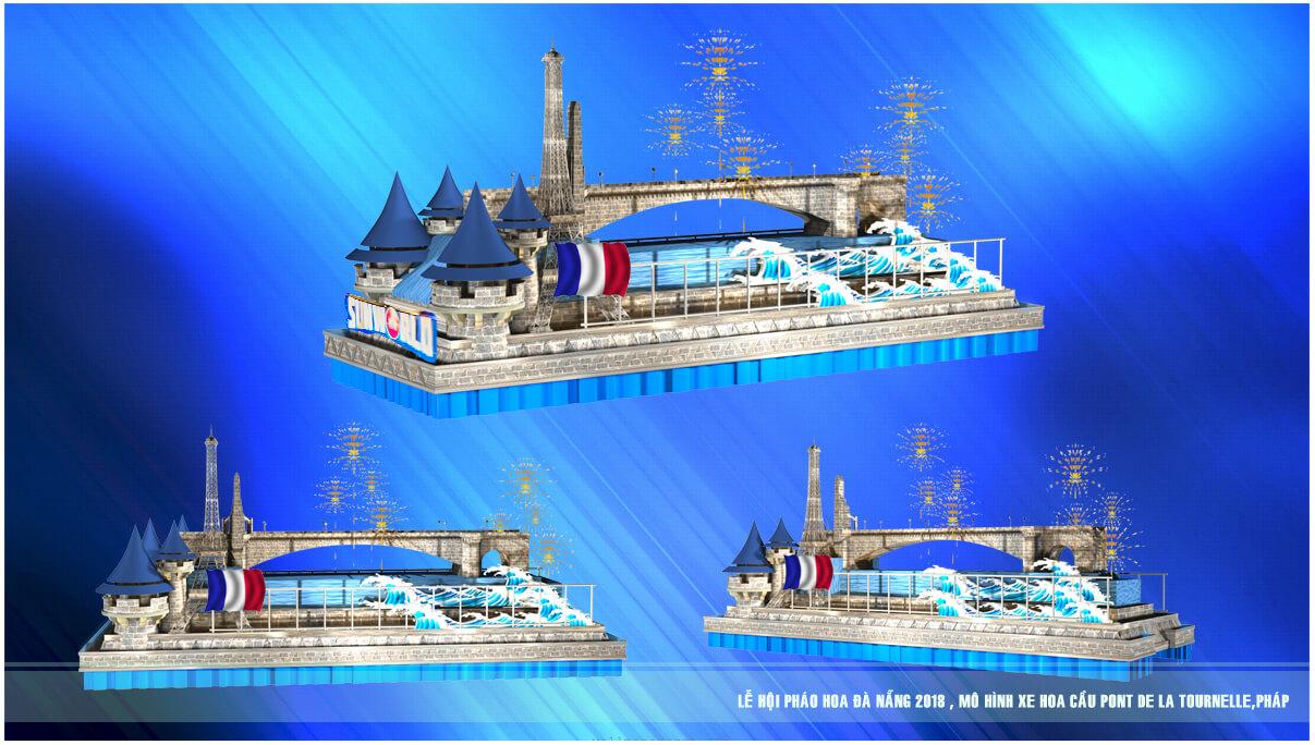 Xem 12 cây cầu nổi tiếng thế giới di động trên đường phố Đà Nẵng – Mô hình xe hoa Lễ hội pháo hoa Quốc tế Đà Nẵng 4