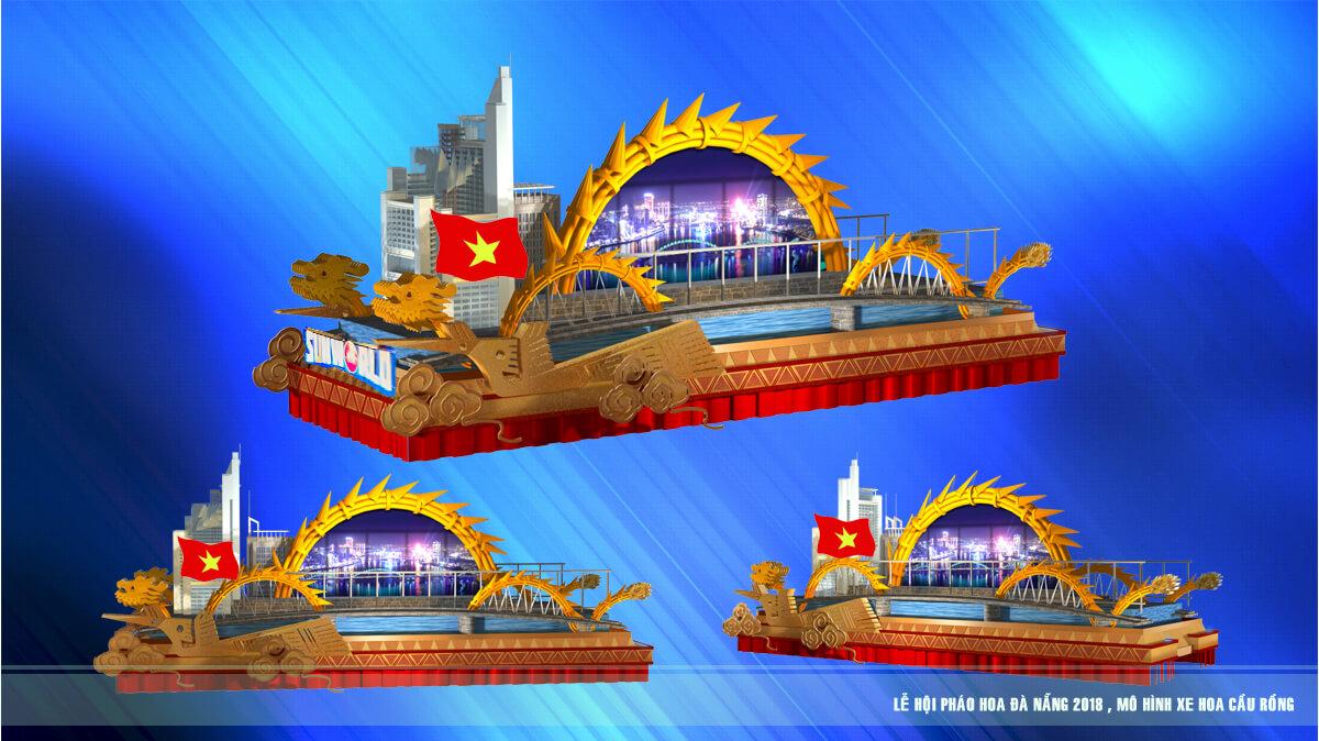 Xem 12 cây cầu nổi tiếng thế giới di động trên đường phố Đà Nẵng – Mô hình xe hoa Lễ hội pháo hoa Quốc tế Đà Nẵng 1
