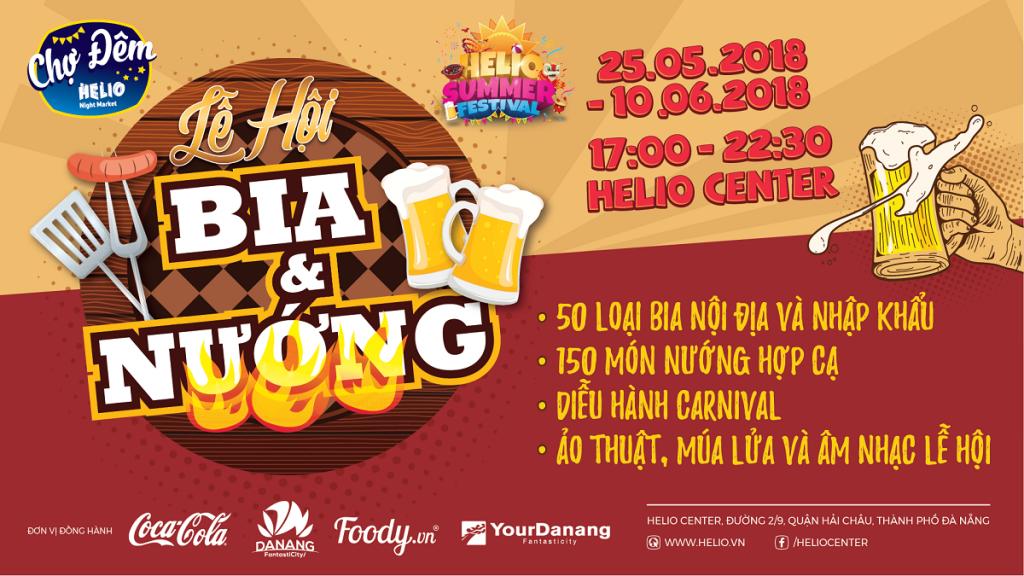 Bùng nổ mọi giác quan cùng chuỗi lễ hội HELIO SUMMER FESTIVAL 2018 Lễ hội Bia & Nướng -Lễ hội Game -Lễ hội Ẩm thực đường phố -Lễ hội Lân sư rồng quốc tế 3
