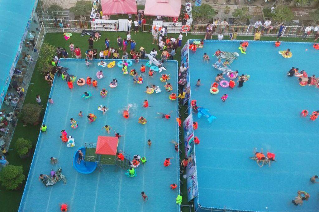 Khai trương công viên nước di động tại Trung tâm Hội chợ Triển lãm Đà Nẵng 2
