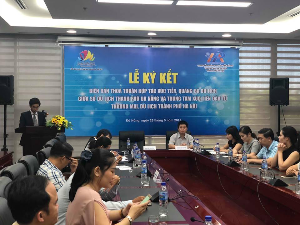 Ký kết biên bản thoả thuận hợp tác xúc tiến, quảng bá du lịch giữa Đà Nẵng và Hà Nội 1