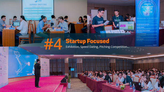 SURF 2018 là sự kiện của startup, do startup và vì startup qua việc mang đến cho các dự án khởi nghiệp cơ hội tìm kiếm những lợi ích thiết thực thông qua các hoạt động triển lãm, hội nghị, hội thảo và các cuộc đua tranh tài khởi nghiệp