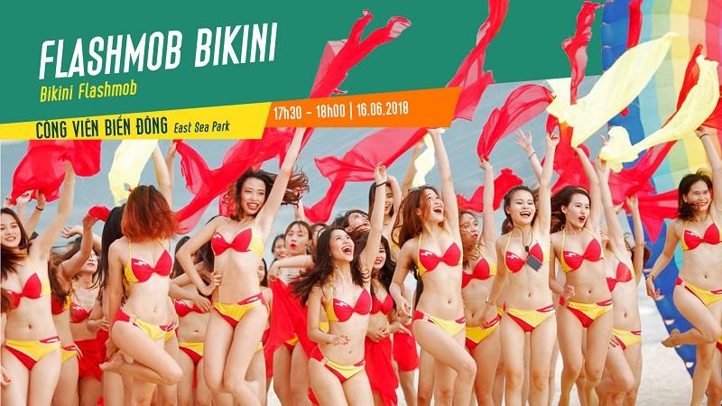Hấp dẫn chương trình đồng diễn Flashmob Bikini trên bờ biển Đà Nẵng