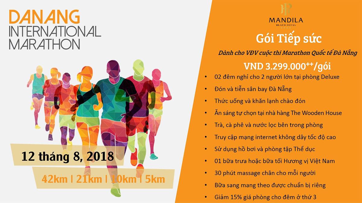 Mandila Beach Hotel - Gói tiếp sức dành cho các VĐV cuộc thi Marathon Quốc tế Đà Nẵng