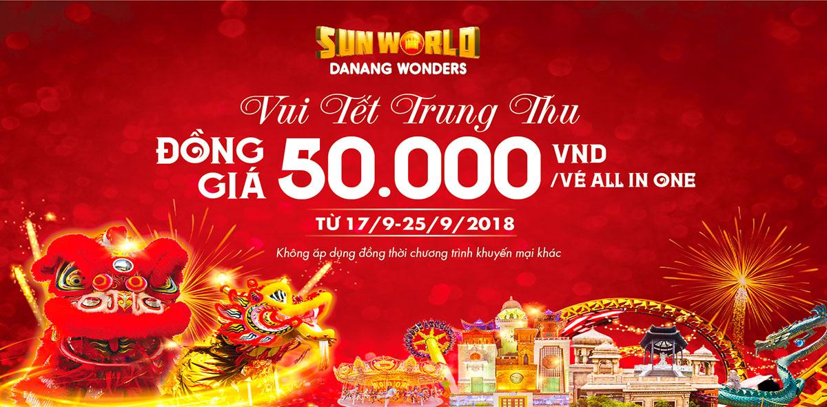 Vui tết Trung thu chỉ với 50.000 Vnđ tại Sun World Danang Wonders