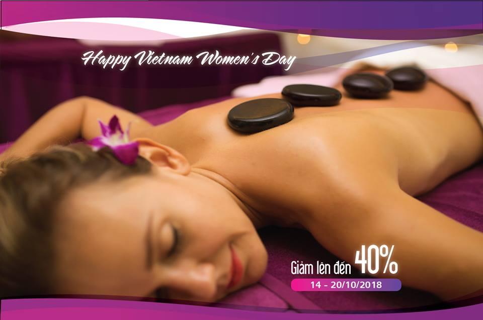 Khuyến mãi hấp dẫn mừng ngày Phụ Nữ Việt Nam 20/10 tại The Holiday Spa & Massage