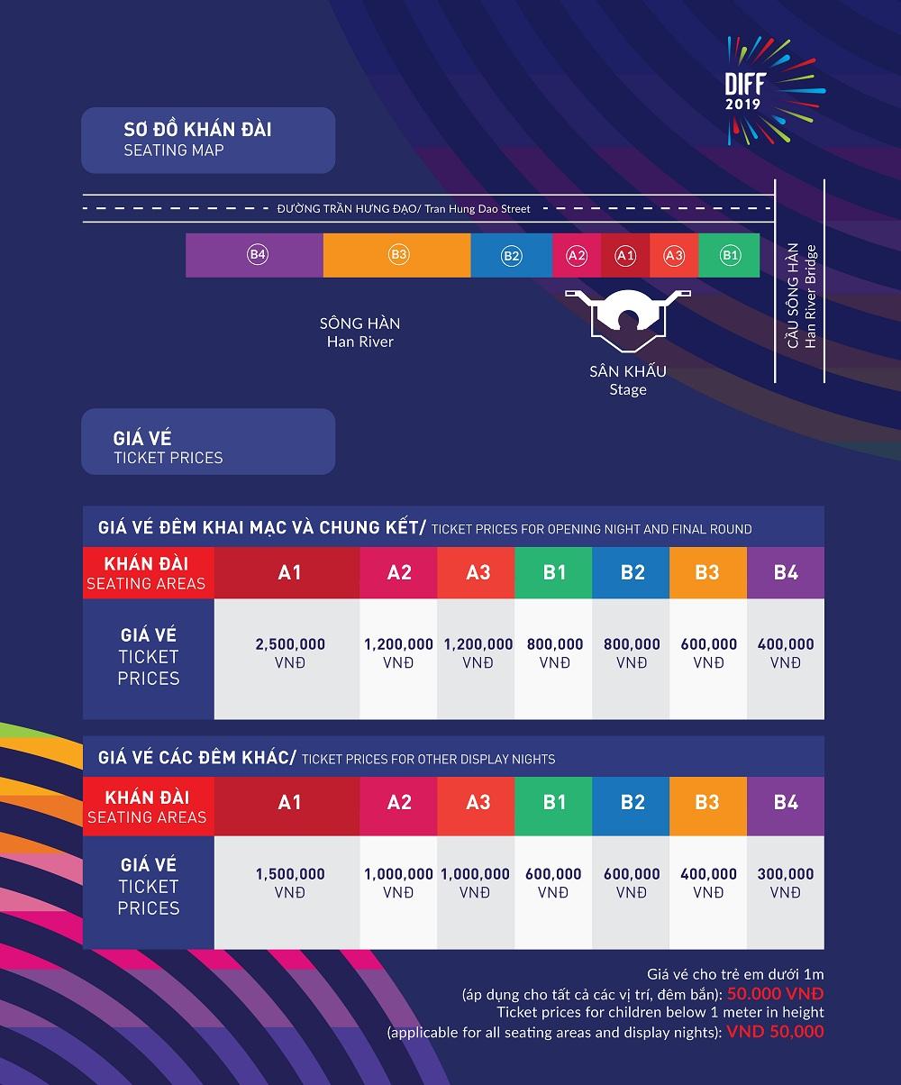 Công Bố Giá Vé Lễ Hội Pháo Hoa Quốc Tế Đà Nẵng 2019