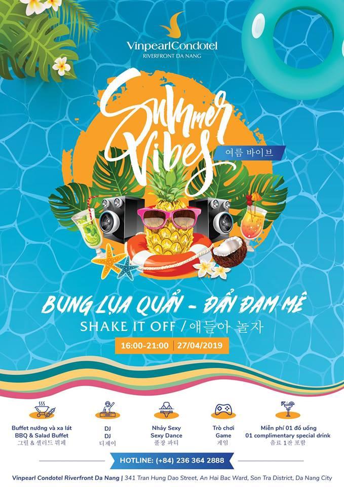 Giải nhiệt mùa hè với Pool Party tại Vinpearl Condotel Riverfront Đà