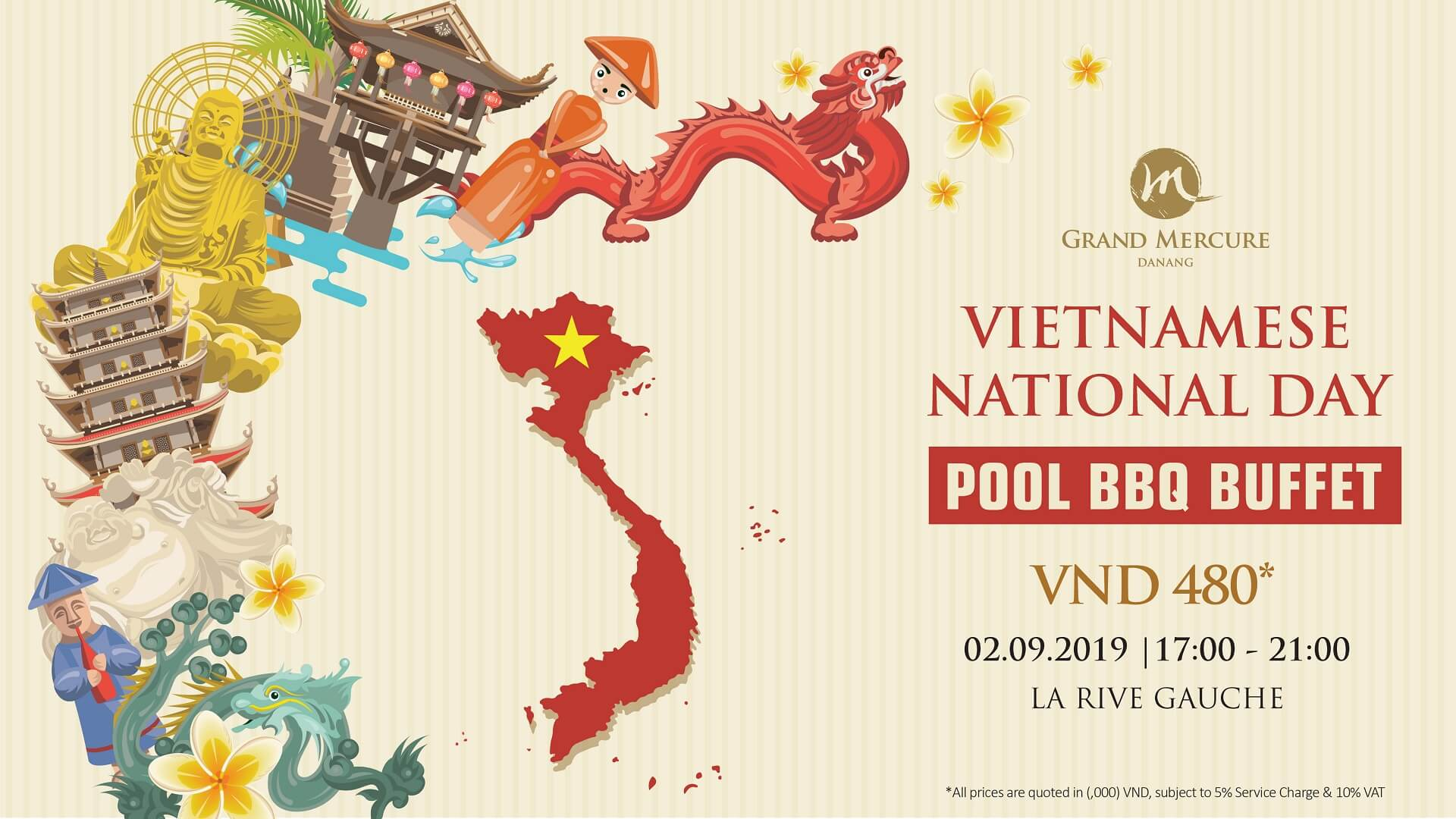 Celebrate Vietnamese National Day with Pool BBQ Buffet at