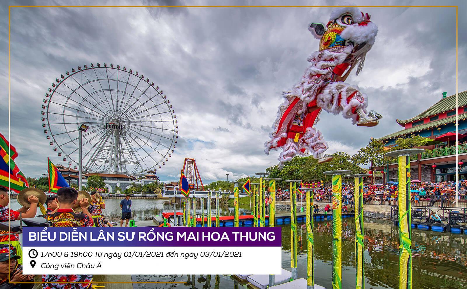Le Hoi Da Nang Chao Nam Moi 2021 Bieu Dien Lan Su Rong