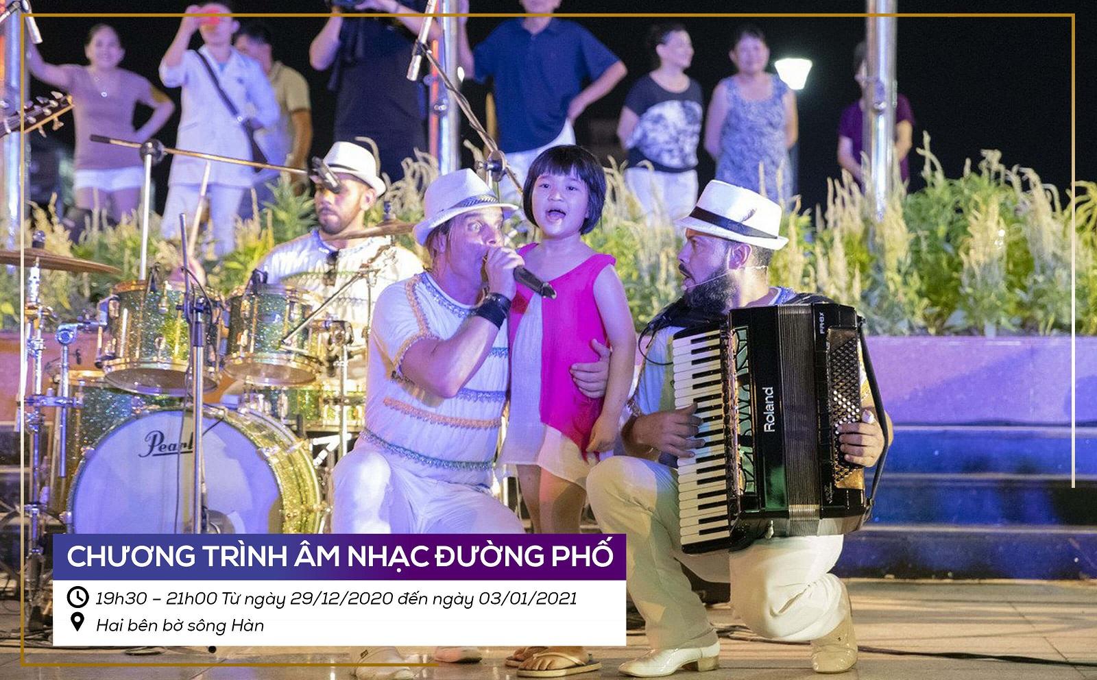 Le Hoi Da Nang Chao Nam Moi 2021 Chuong Trinh Am Nhac Duong Pho
