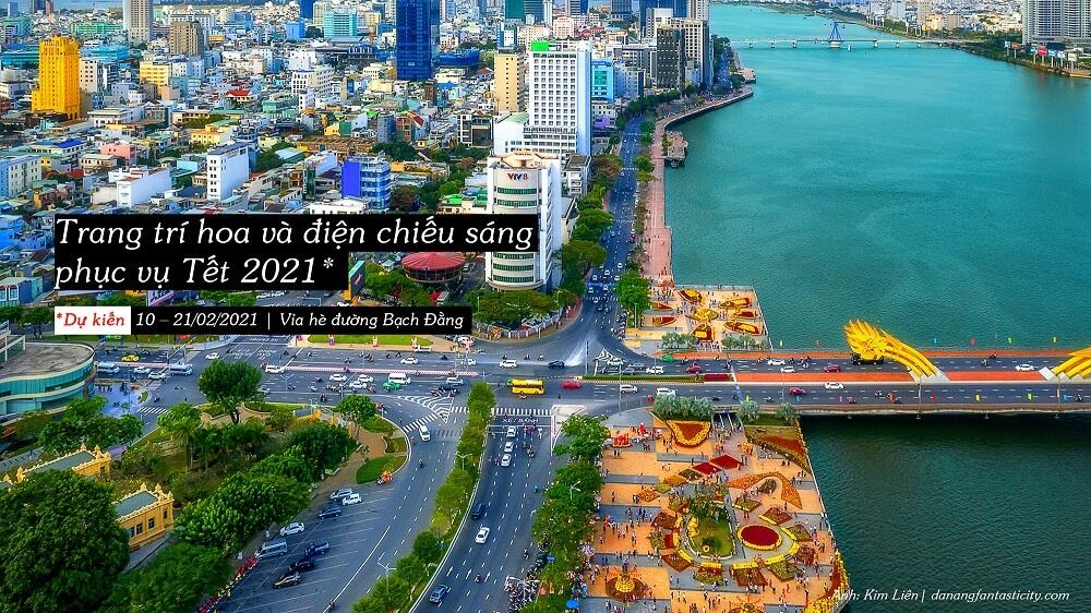Trang Tri Phuc Vu Tet Hai Ben Bo Song Han Danang Top Su Kien Noi Bat Da Nang 2021