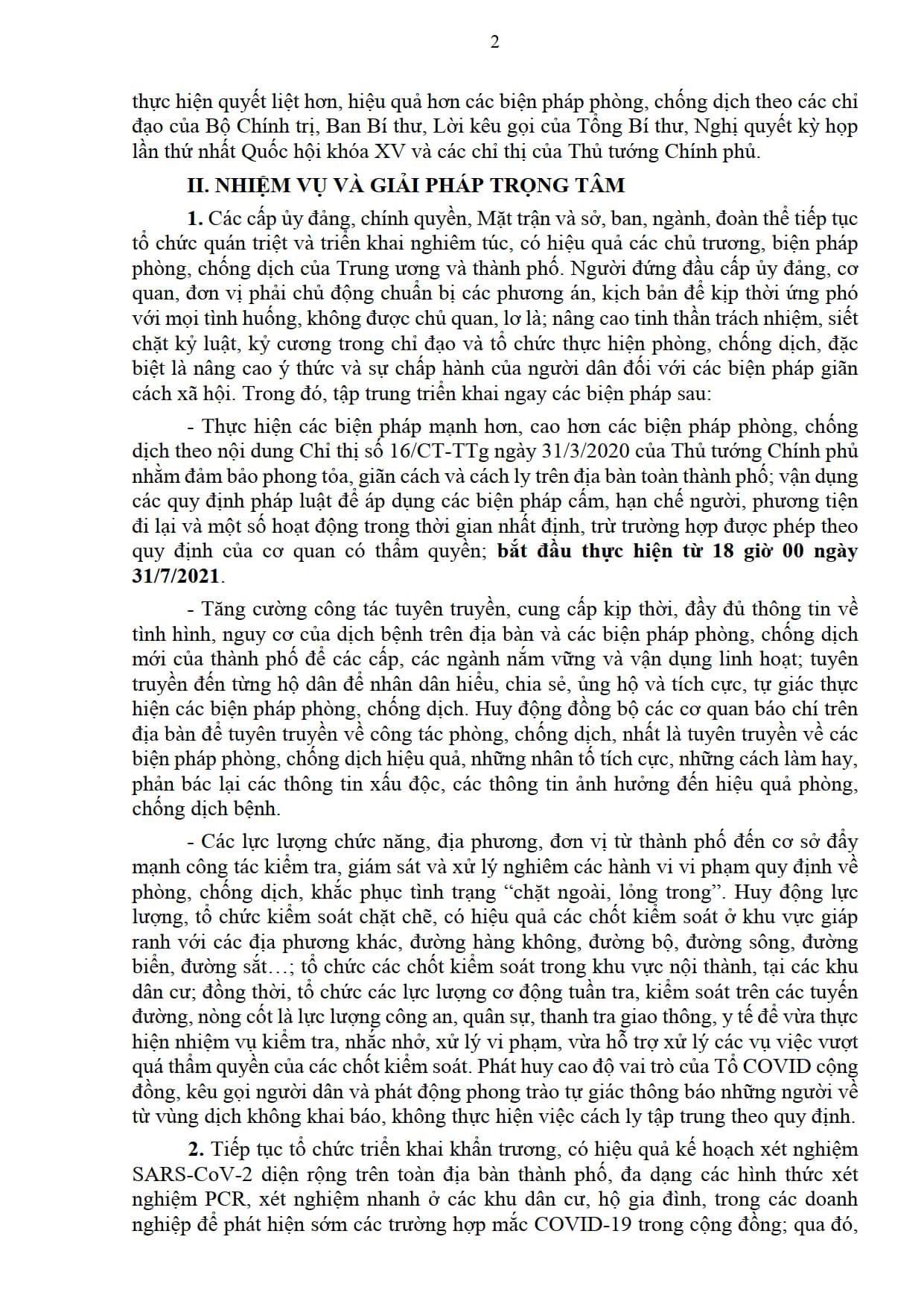 Da Nang Thuc Hien Cac Bien Phap Phong Chong Dich Manh Hon Cao Hon Chi Thi 16 Ke Tu 18h Ngay 31 Thang 73